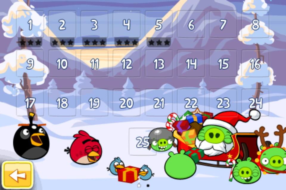 Angry Birds Seasons Weihnachten 2012
