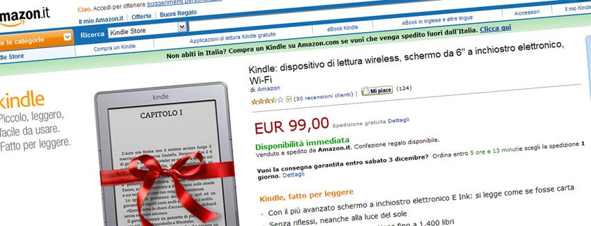 Kindle 4 auf amazon.it
