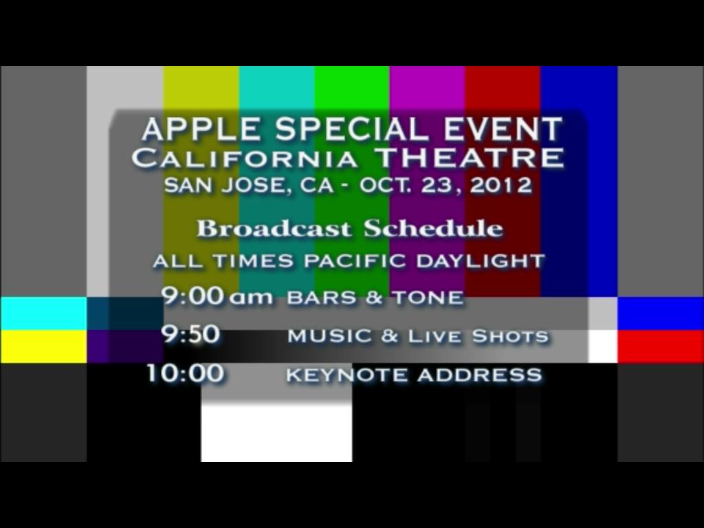 Apple Präsentation vom 23.10.2012
