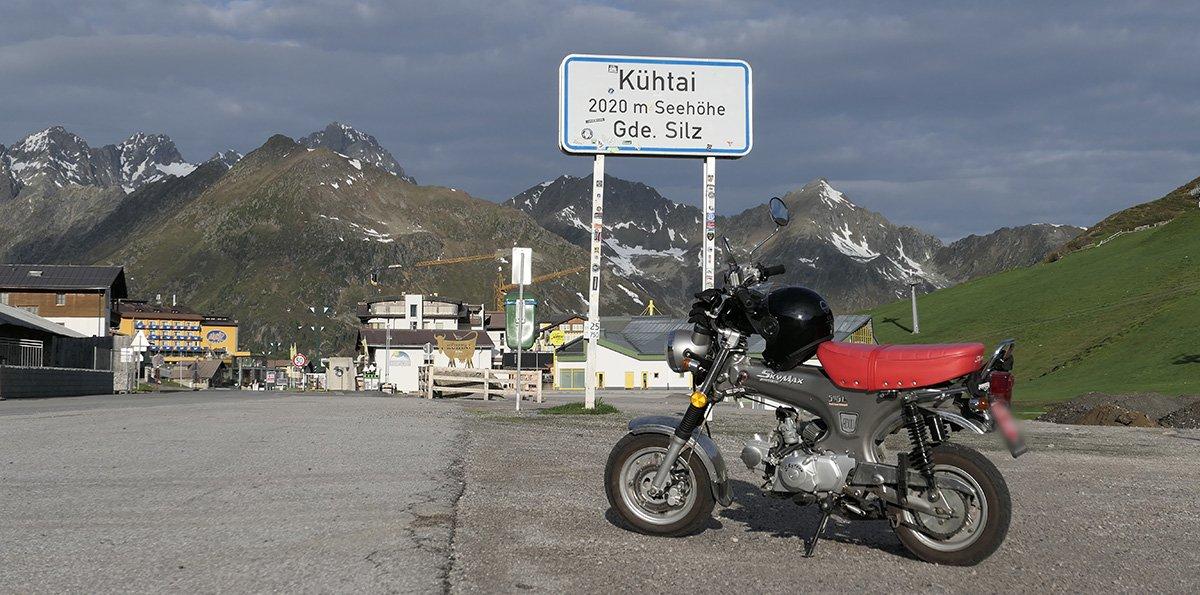 Das Rennfahrzeug des ÖMM in Kühtai