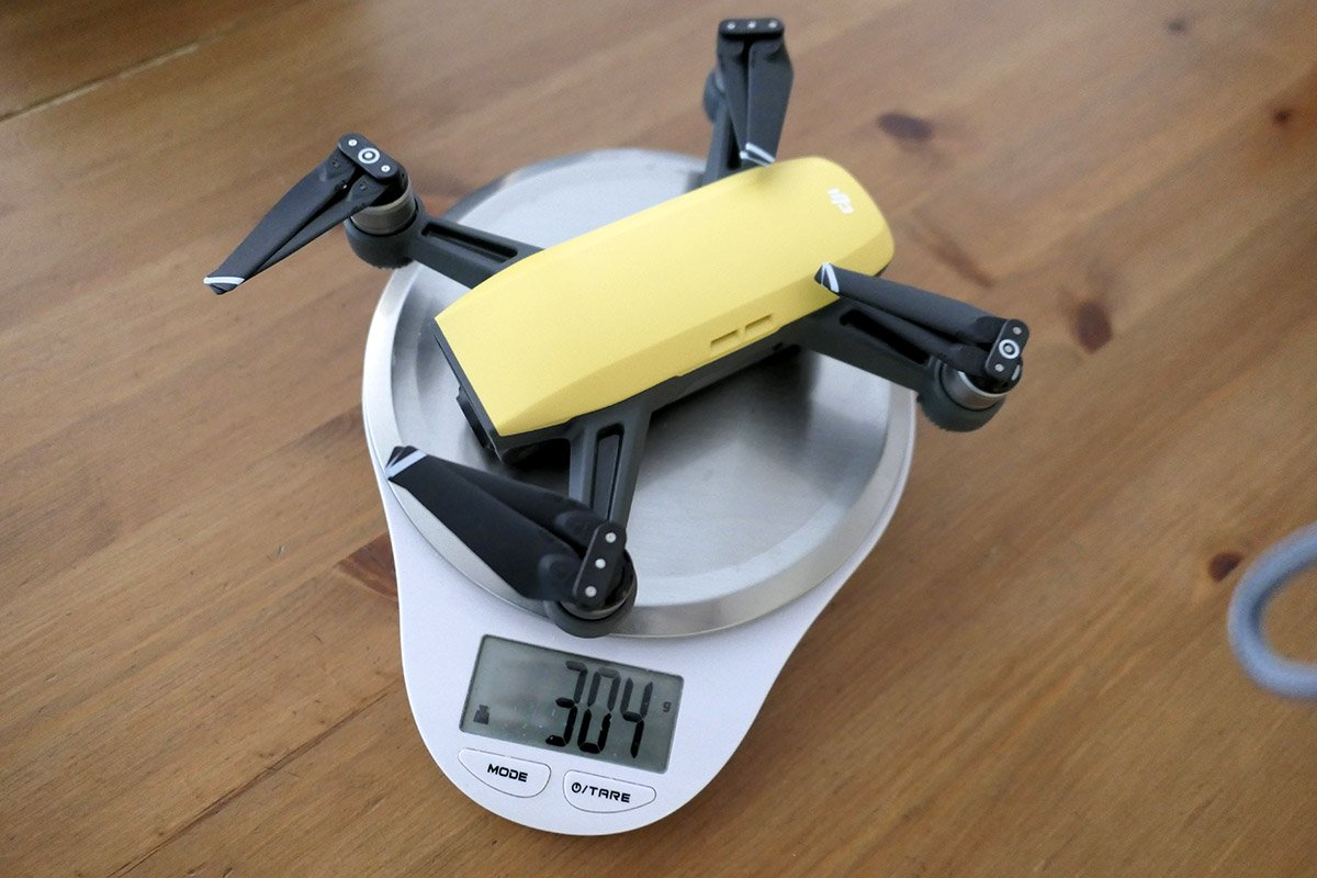 Das echte Gewicht der Spark: 304 Gramm