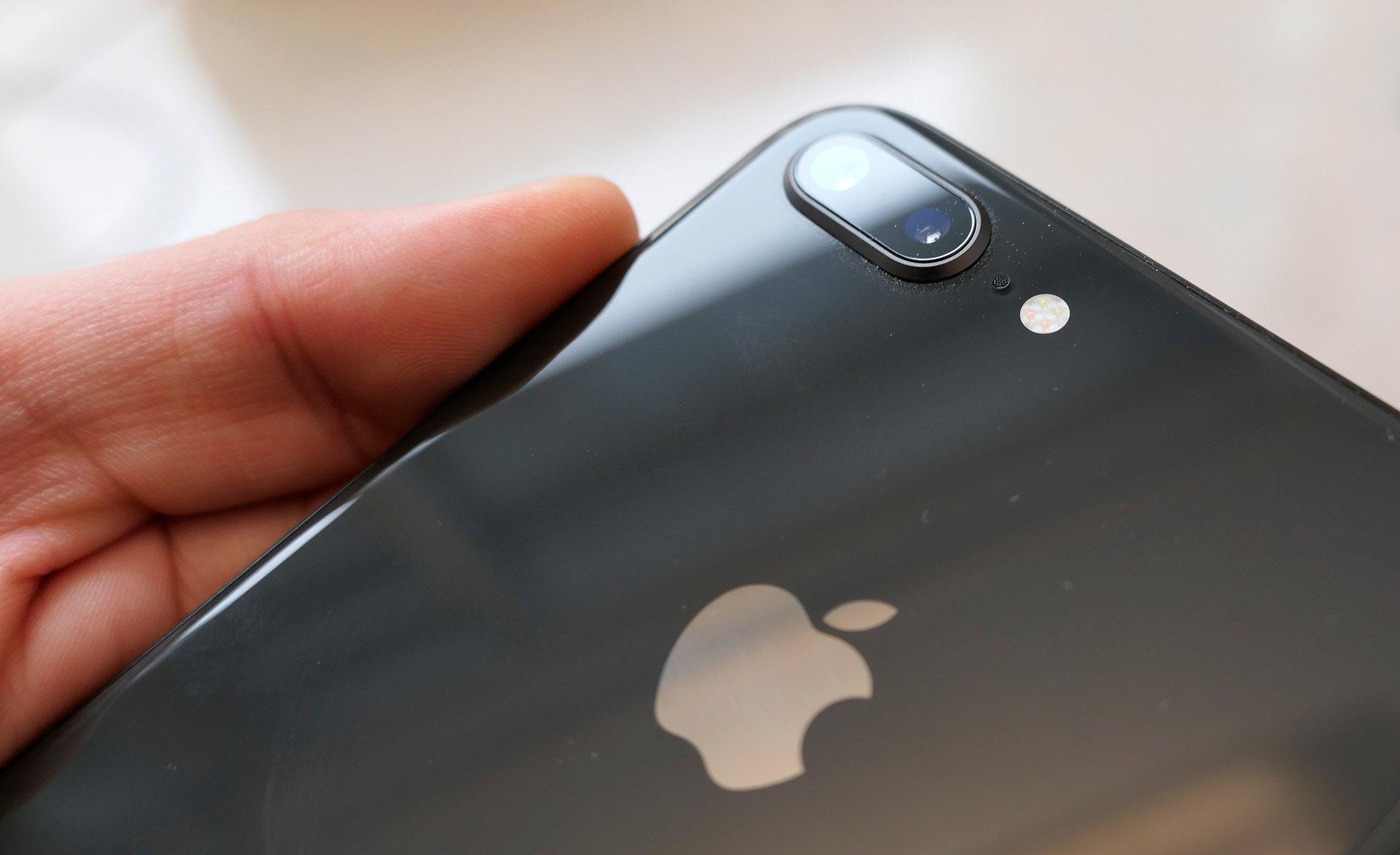 Glasrückseite des iPhone 8+