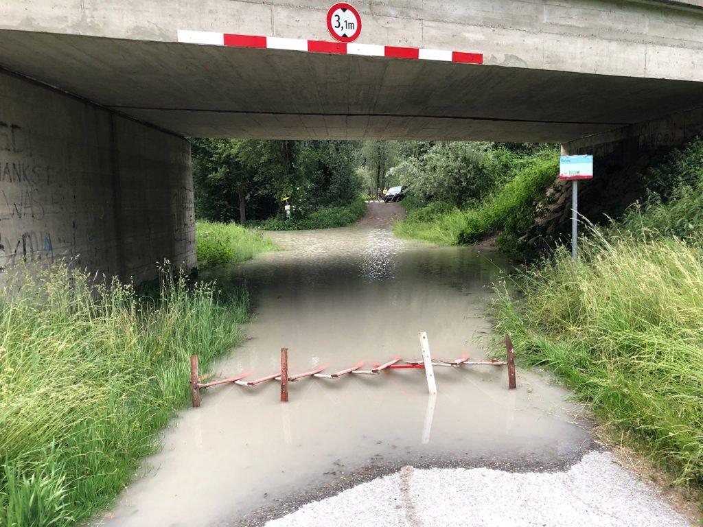 Hochwasser in der Unterführung Gaisau Inzing